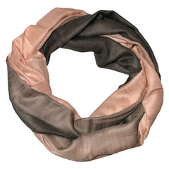 Salmon Taupe Ombre Scarf