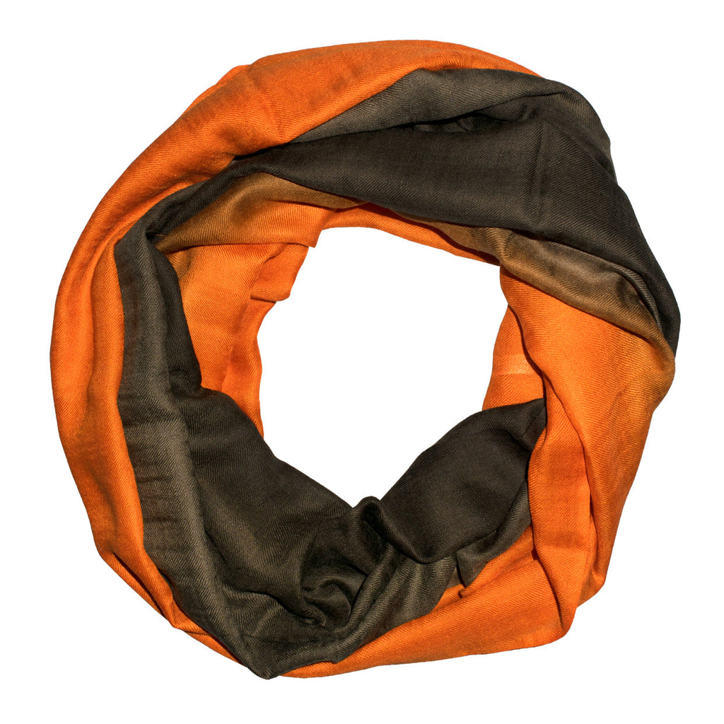 Rust Brown Ombre Scarf