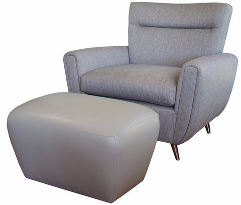 Patrician Lounge Chair With Patrician Large Ottoman