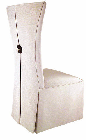 Athena Side Chair Beige Leather