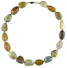 Faceted Peruvian Opal Necklace