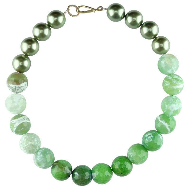Green Agate Choker Necklace