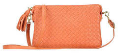 Sera Travel Orange Woven Purse