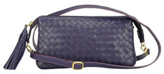 Sera Travel Purple Woven Purse