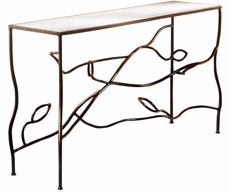 Abstract Leaf Console Table