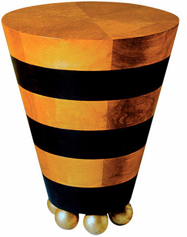 Striped Cone Occasional Table