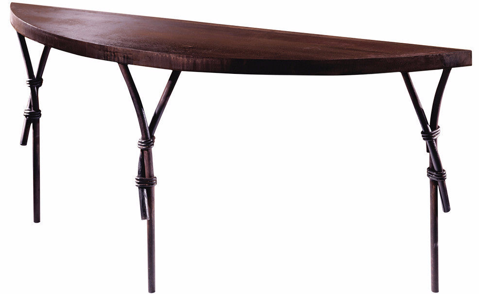 Steel Crescent Console