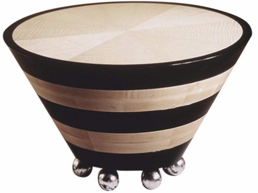 Tapered Cocktail Table With Ball Feet