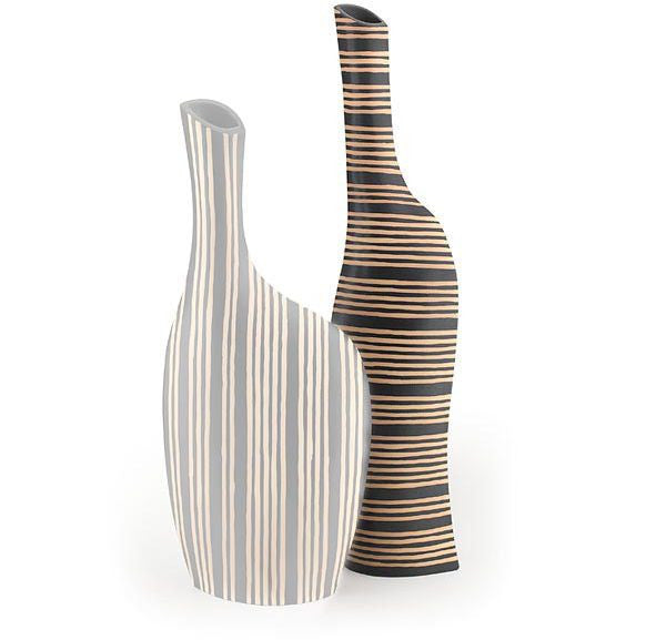 Striped Horizontal Vase