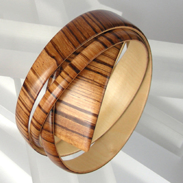 Embracelet - Zebrano Wood Large