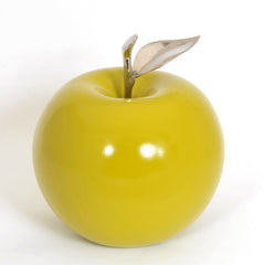 Ceramic Apple with Silver Stem
