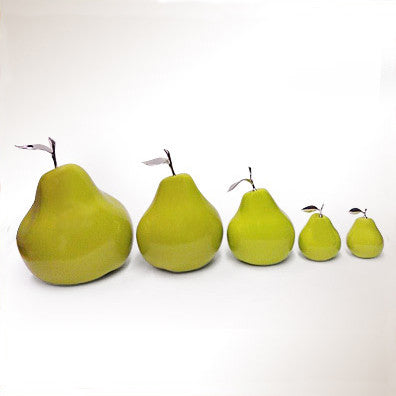 Ceramic Pear with Silver Stem