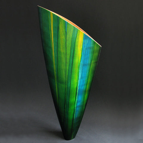 Blossom Green Striped Vase