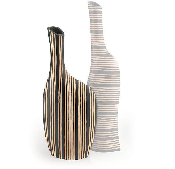 Striped Vertical Vase