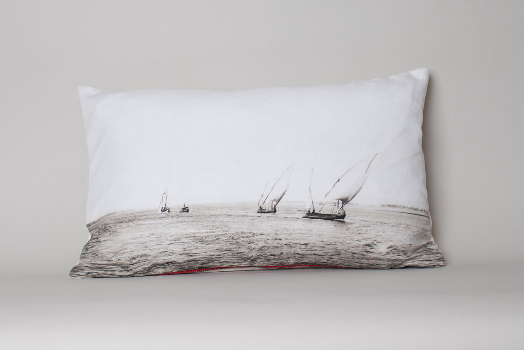 Sailboats - Nile Egypt Cushion