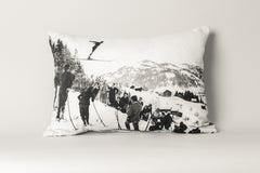 Ski Jumper- Gstaad, Switzerland Cushion