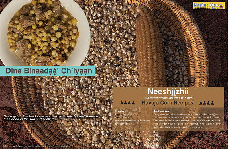 6 small Posters: Navajo Corn Recipes