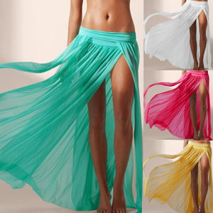 b4c297573d The Tiffany Beach Skirt Cover Up Sheer – Ombre' Rene'
