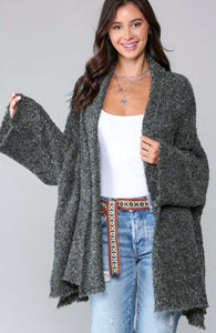 Sena Olive Knit Cardigan Sweater
