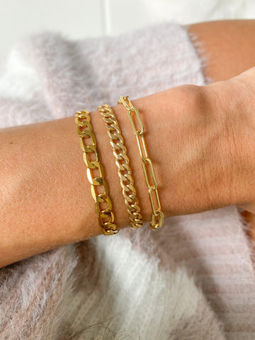 Stackable Gold Filled Link Bracelets