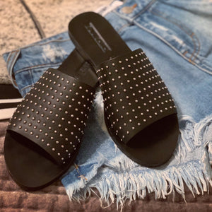 Sol Sana Studded Leather Slides