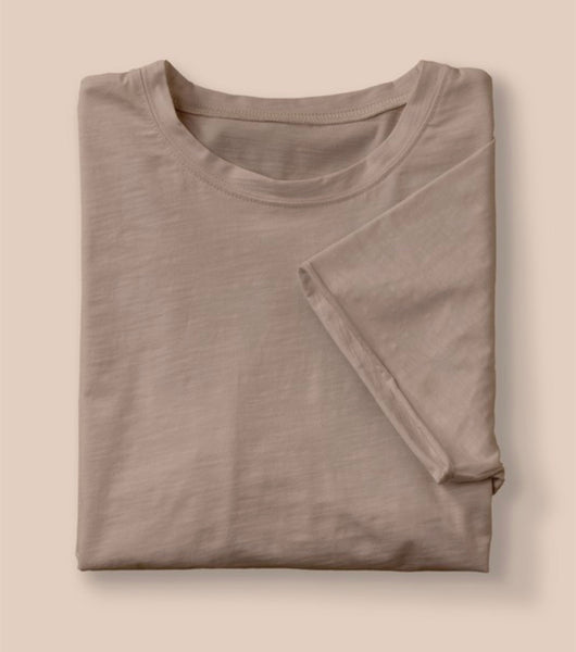 The Ultra Soft Cotton Blend Classic Raw Edge Tee in 6 Colors