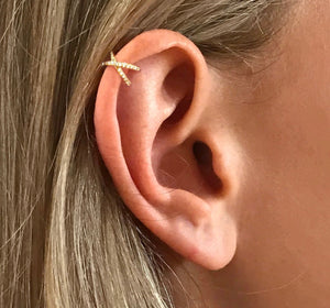 Criss Cross Butterfly Ear Cuff