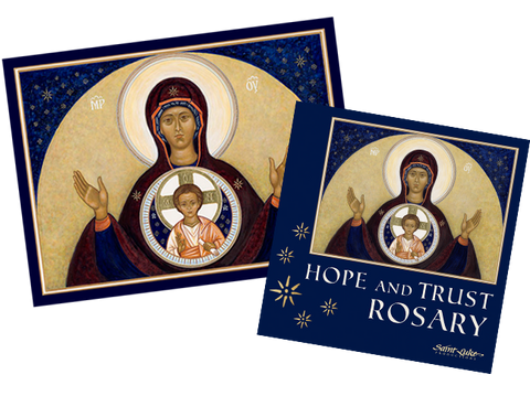 Our Lady of Hope Icon / Hope & Trust Rosary CD COMBO