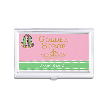 AKA Golden Soror Business Card Holder