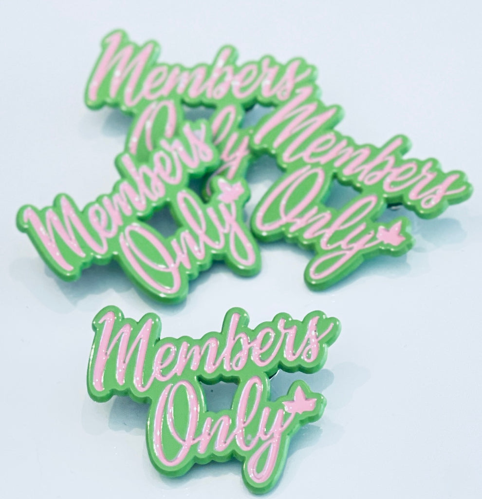 Members Only Pin