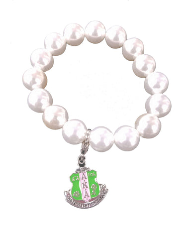 AKA Large Pearl Shield Bracelet