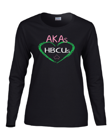 AKA (Hearts) HBCU Shirt Long Sleeved