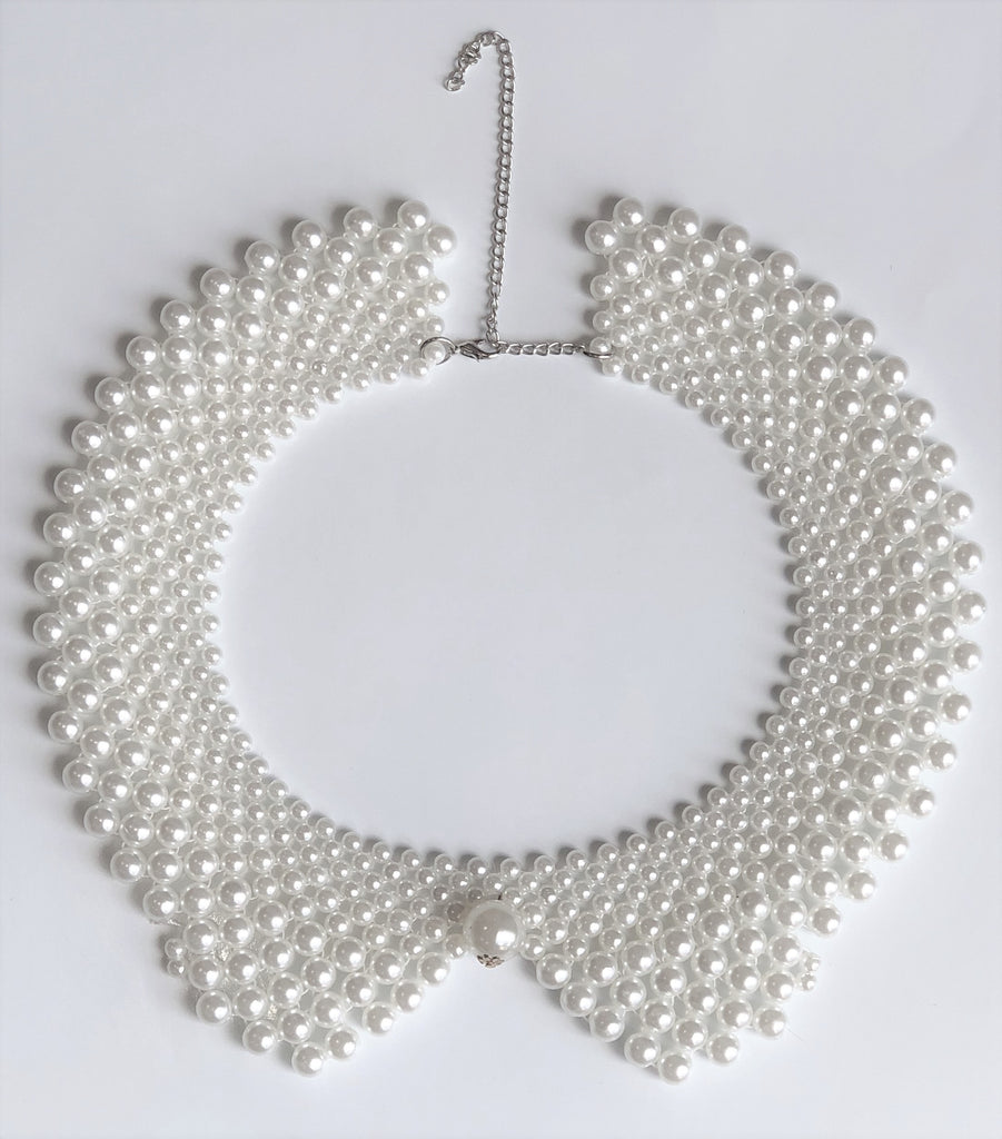 Pearl Drop Collar Necklace