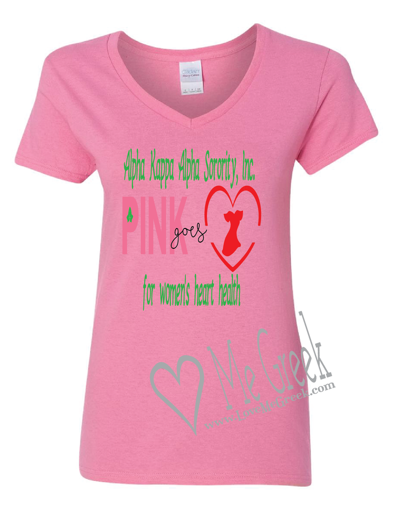 AKA Pink Goes Red Shirt