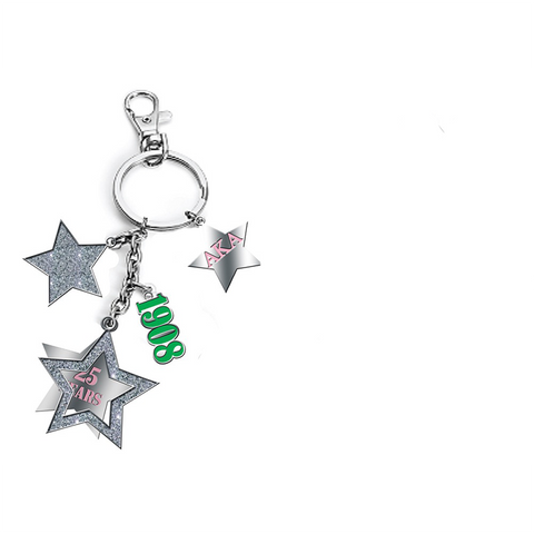 Silver Star Dangle Keychain