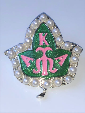 Silver Ivy Badge Pin