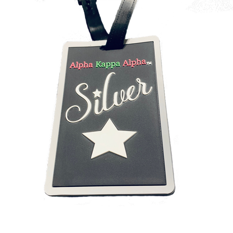 Silver Star Luggage Tag