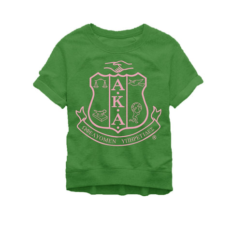 Green Short-sleeved Sweatshirt