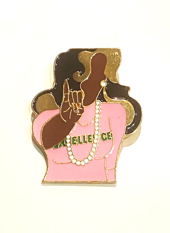Excellence Lady Lapel Pin
