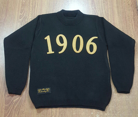 APhiA 1906 Black and Gold Sweater