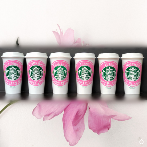 Personalized Reusable Starbucks Cups