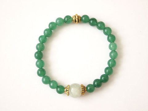 Forest & Ocean Bracelet (Heart & Throat Chakra)