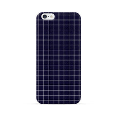 iPhone 6 Case Blue Checker Pattern