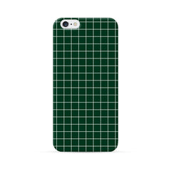 iPhone 6 Plus Case Green Checker Pattern