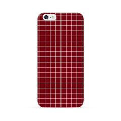 iPhone 6 Case Red Checker Pattern