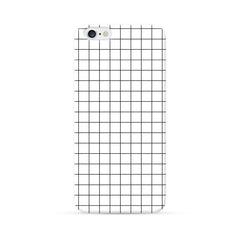 iPhone 6 Case White Checker Pattern