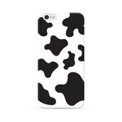 iPhone 6 Case Black and White Milk Cow Pattern