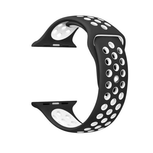 Black / White Perforated Sport Band compatible for Apple Watch / Apple Watch Sport ( 38 mm , 42 mm )