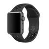 Black / Black Perforated Sport Band compatible for Apple Watch / Apple Watch Sport ( 38mm / 40mm  , 42mm / 44mm )