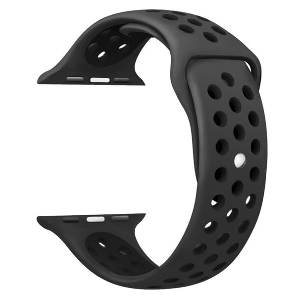 Black / Black Perforated Sport Band compatible for Apple Watch / Apple Watch Sport ( 38 mm , 42 mm )